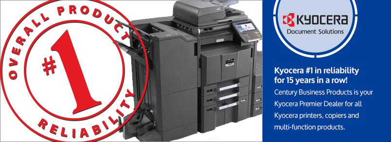 Century Business Products is your Kyocera Dealer for printers, copiers and multi-function products.